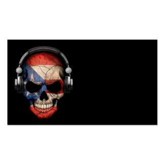 Cráneo adaptable de DJ del puertorriqueño con los Tarjetas De Visita
