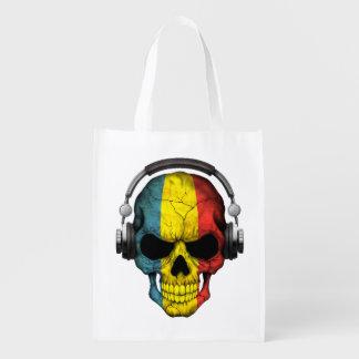 Cráneo adaptable de DJ del rumano con los Bolsa De La Compra