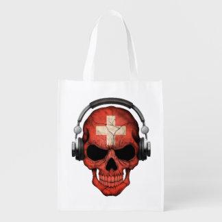 Cráneo adaptable de DJ del suizo con los Bolsa Para La Compra