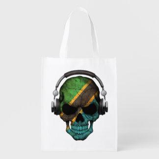 Cráneo adaptable de DJ del tanzano con los Bolsa Para La Compra