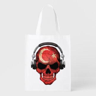 Cráneo adaptable de DJ del turco con los Bolsa Para La Compra