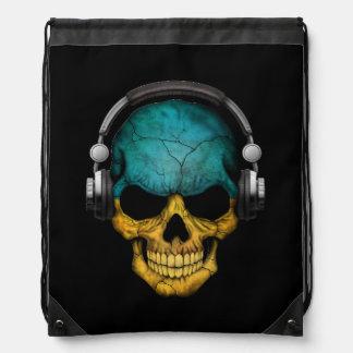 Cráneo adaptable de DJ del ucraniano con los Mochila