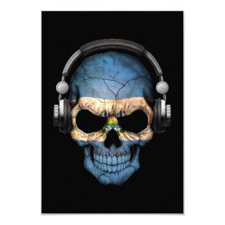 """Cráneo adaptable de El Salvador DJ con los Invitación 3.5"""" X 5"""""""