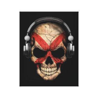 Cráneo adaptable de Irlanda del Norte DJ Impresión En Lona Estirada