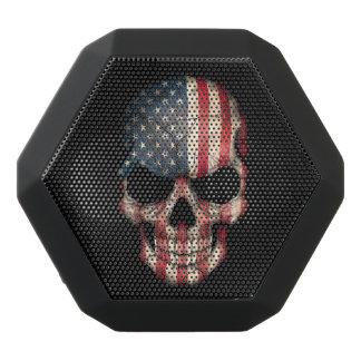 Cráneo adaptable de la bandera americana altavoces bluetooth negros boombot REX