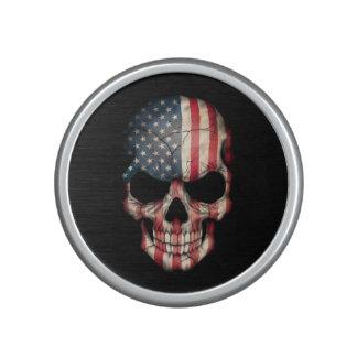 Cráneo adaptable de la bandera americana altavoz bluetooth
