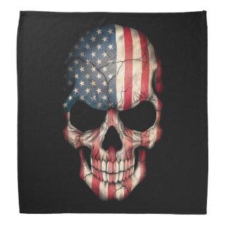 Cráneo adaptable de la bandera americana bandana