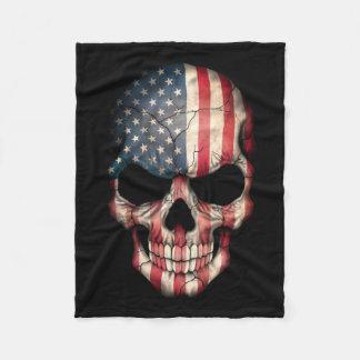 Cráneo adaptable de la bandera americana manta de forro polar