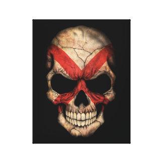 Cráneo adaptable de la bandera de Irlanda del Impresiones En Lienzo Estiradas