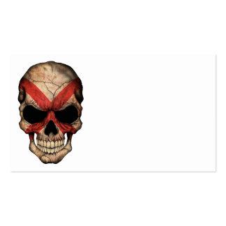 Cráneo adaptable de la bandera de Irlanda del Tarjetas De Visita