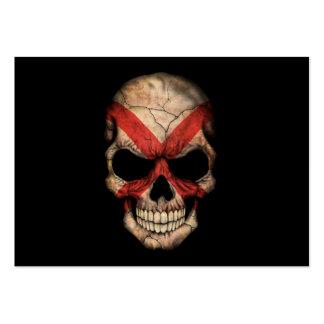 Cráneo adaptable de la bandera de Irlanda del Tarjetas De Visita Grandes