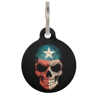 Cráneo adaptable de la bandera de Tejas Placa Para Mascotas
