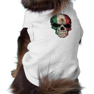 Cráneo adaptable de la bandera mexicana camisas de perritos
