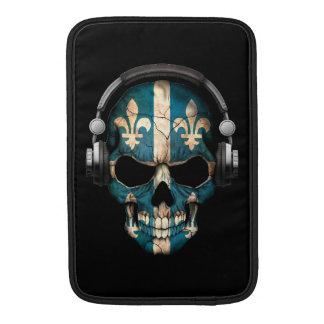 Cráneo adaptable de Quebec DJ con los auriculares Fundas Macbook Air