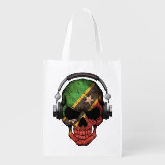 Cráneo adaptable de San Cristobal DJ del santo con Bolsas Para La Compra