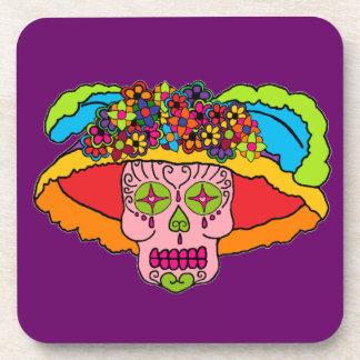 Cráneo adaptable del azúcar de Catrina Posavasos