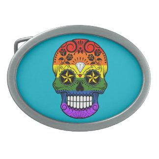 Cráneo adaptable del azúcar del arco iris del hebilla de cinturon oval