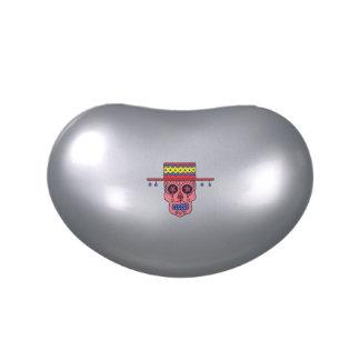 Cráneo adaptable del azúcar del gaucho jarrones de dulces