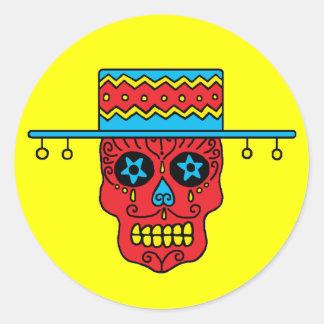 Cráneo adaptable del azúcar del gaucho etiquetas redondas
