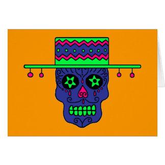 Cráneo adaptable del azúcar del gaucho tarjeta de felicitación
