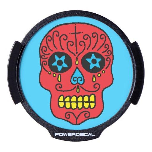 Cráneo adaptable del azúcar sticker LED para ventana