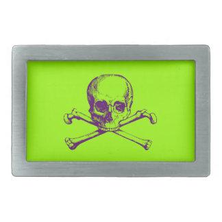 Cráneo adaptable y bandera pirata del vintage hebillas de cinturon rectangulares