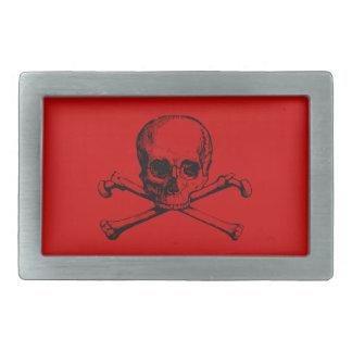 Cráneo adaptable y bandera pirata del vintage hebilla de cinturon rectangular