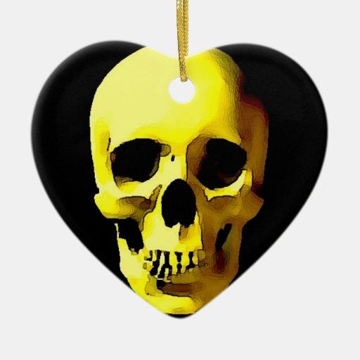 Cráneo Adorno Navideño De Cerámica En Forma De Corazón