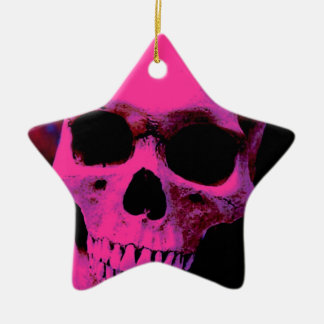 Cráneo Adorno Navideño De Cerámica En Forma De Estrella