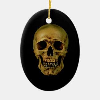 Cráneo Adorno Navideño Ovalado De Cerámica