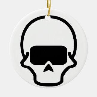 Cráneo Adorno Navideño Redondo De Cerámica