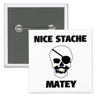 Cráneo afable agradable del pirata de Stache Pins