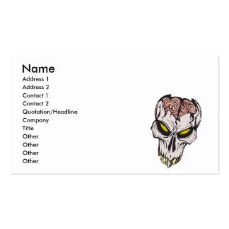 cráneo agrietado del cerebro tarjetas de visita