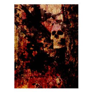 Cráneo aherrumbrado tarjetas postales