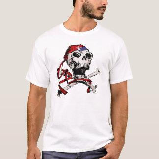 Cráneo alegre y bandera pirata de Rogelio Playera