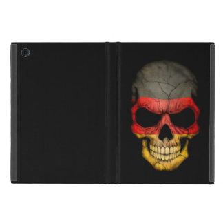 Cráneo alemán de la bandera en negro iPad mini coberturas