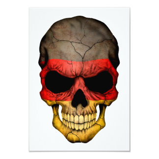 """Cráneo alemán de la bandera invitación 3.5"""" x 5"""""""