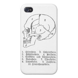 Cráneo alemán iPhone 4 carcasas