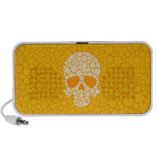 Cráneo amarillo de las flores salvajes altavoces de viajar