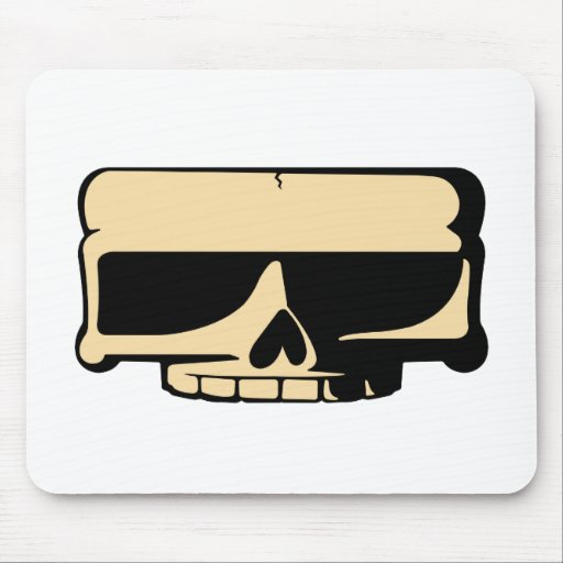 Cráneo amarillo Mousepad