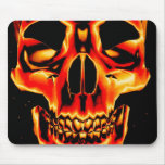 Cráneo amarillo y negro rojo Mousepad Tapete De Ratones