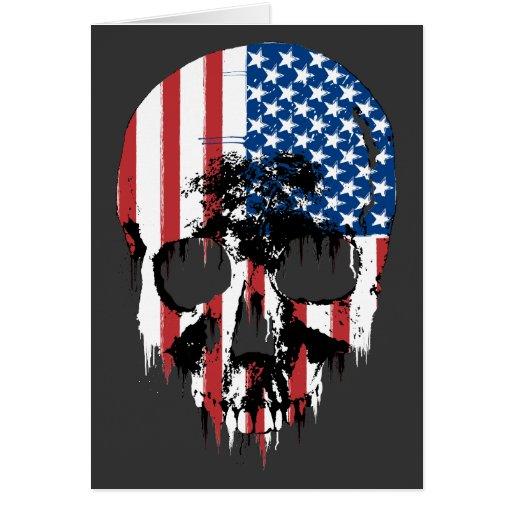 Cráneo americano felicitación
