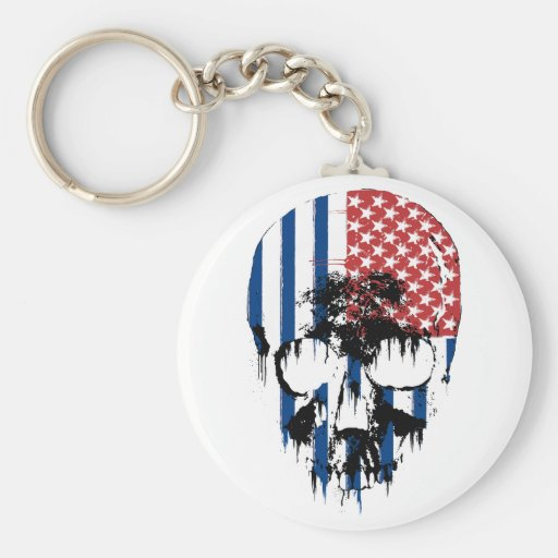 Cráneo americano inverso llaveros personalizados