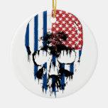 Cráneo americano inverso ornamentos de reyes magos