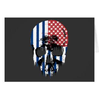 Cráneo americano inverso tarjeta de felicitación