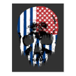 Cráneo americano inverso tarjeta postal