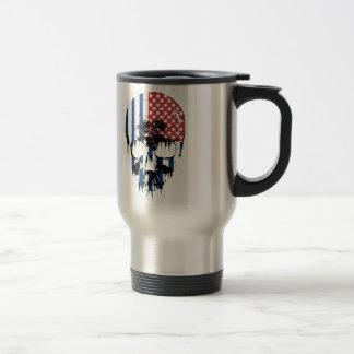 Cráneo americano inverso taza de viaje de acero inoxidable