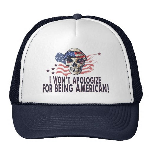 Cráneo americano patriótico gorras de camionero