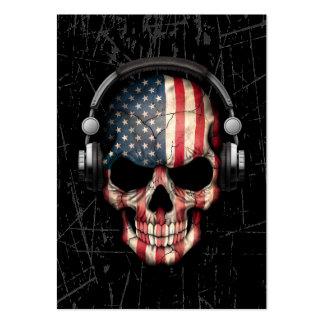 Cráneo americano rasguñado de DJ con los Tarjetas De Visita Grandes