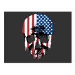 Cráneo americano tarjeta postal
